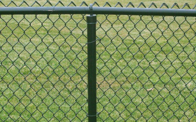 Fence: typical chain link fence post Chain Link Fence Post Repair