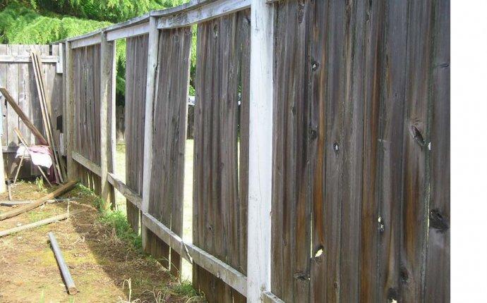 Vinyl Fence Post Repair. Vinyl Semi Privacy Fence. . Northwest