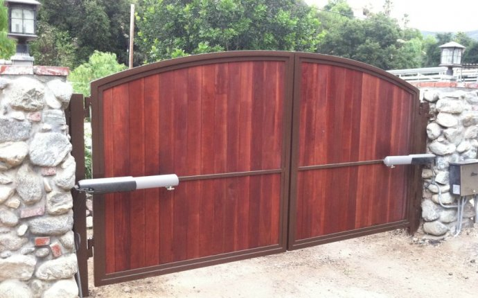 Wood gate installation